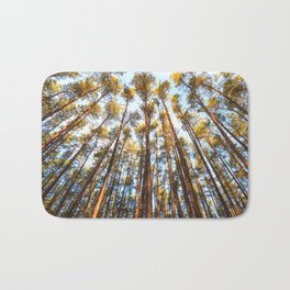 Forest landscape photography - trees and sky Bath Mat