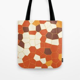 Hexagon Abstract Orange_Cream Tote Bag