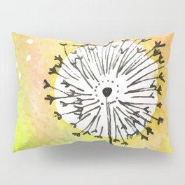 Watercolor Dandelion - Make a wish Pillow Sham