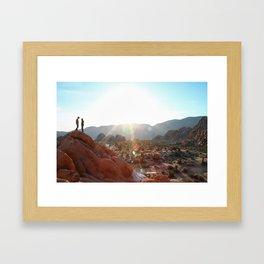 Sunrise in Joshua Tree Framed Art Print