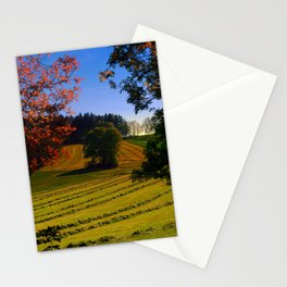Tree watching in springtime Stationery Cards