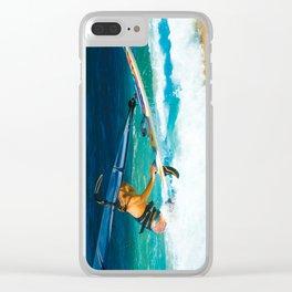 Hookipa Beach Windsurfing North Shore Maui Hawaii Clear iPhone Case