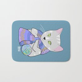 Autumn and winter cats - knitting Bath Mat