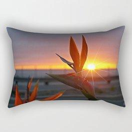 Bird of Paradise Sunburst by Aloha Kea Photography Rectangular Pillow