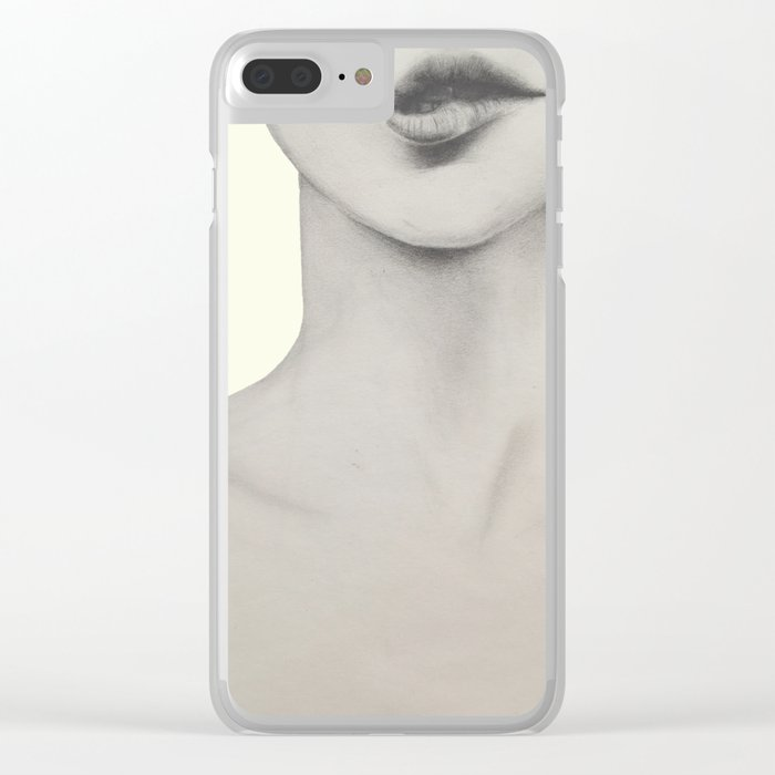 I bite my lips when I'm nervous 01 Clear iPhone Case