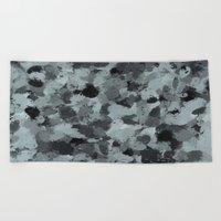 Black and Smokey Blue Pastels 3216 Beach Towel