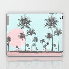Beachfront palm tree soft pastel sunset graphic Laptop & iPad Skin