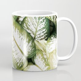 Leaves, Plant, Green, Modern art, Tropical, Art, Minimal, Wall art Coffee Mug