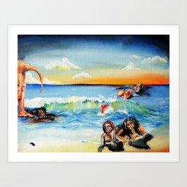 Beach of Sensitivity Art Print