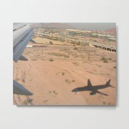 Boeing 757 wing view Metal Print