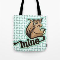 squirrel Tote Bags featuring Squirrel by VessDSign