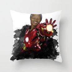 Iron Mandela Throw Pillow