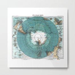 Antarctica Vintage map Metal Print