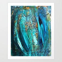 Doodle in blue Art Print