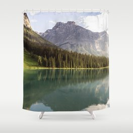 Mountain Lake Landscape Shower Curtain