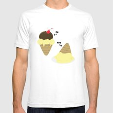 UR A Basic Ice Cream SMALL Mens Fitted Tee White