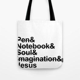 Nothing else but Jesus Tote Bag