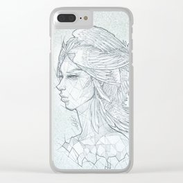 Angel Of Stone Clear iPhone Case