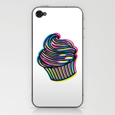 CMYK Cupcake iPhone & iPod Skin