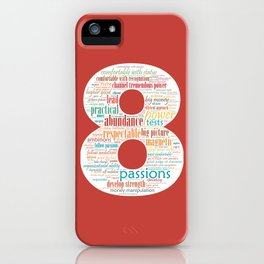 Life Path 8 (color background) iPhone Case