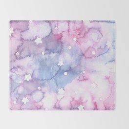 Unicorn Milkshake Watercolor Pattern Throw Blanket