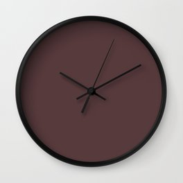 Deep Mahogany Color Accent Wall Clock
