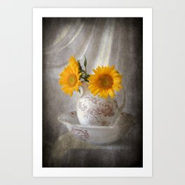 Sunflowers in Pitcher Art Print
