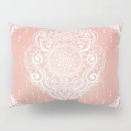 Rose Gold Bohemian Mandala Fall Sunrise Pillow Sham