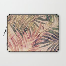 Palm Leaves in pink Laptop Sleeve