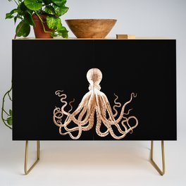 Octopus sea nautical beach coastal Credenza