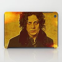 jack white iPad Cases featuring Jack White by yahtz designs