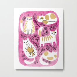 Fat Cats Metal Print