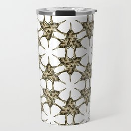 Cactus Spine Pattern - Succulent Geometric Shapes - Cactus Botanic Pattern - Sharp & Spiny Design Travel Mug