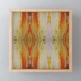 Desert Heat - Geometric Inkblot Art Framed Mini Art Print