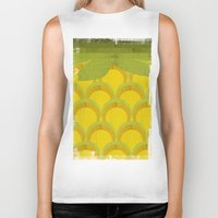 pineapple Biker Tanks featuring Pineapple by Kakel