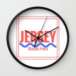Jersey Beaches Graphic Wall Clock