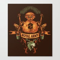 army Canvas Prints featuring Royal Army by Hillary White