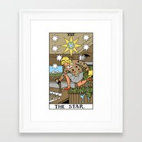 martell Framed Art Prints featuring XVII-The Star by Benjamin Mackey