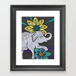 Zen Elephant Framed Art Print