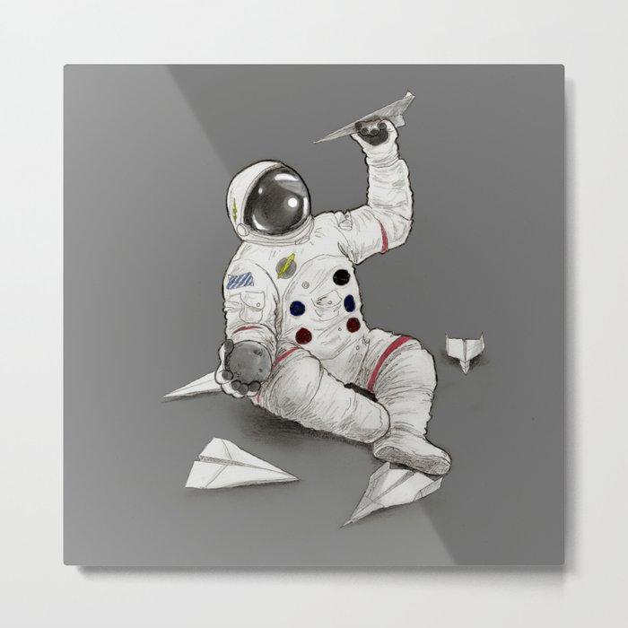 Astronaut in Training Metal Print