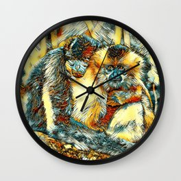 AnimalArt_Gibbon_20170901_by_JAMColorsSpecial Wall Clock
