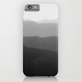 gradient landscape bw iPhone Case