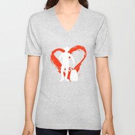 A Heart For Traveling Unisex V-Neck