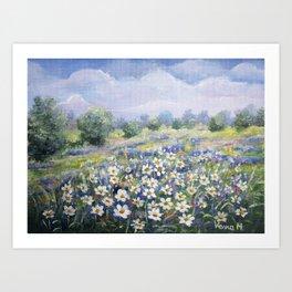White Meadow Art Print