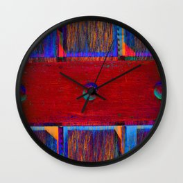 Colors behind the gate Wall Clock