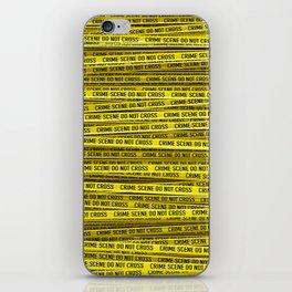 Crime scene / 3D render of endless crime scene tape iPhone Skin
