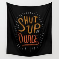 dance Wall Tapestries featuring Dance by skitchism