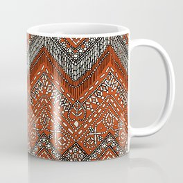 beaded chevron paprika Coffee Mug