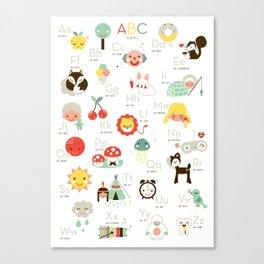 A is like apple Canvas Print