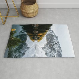 Golden Larches of Blue Lake Rug
